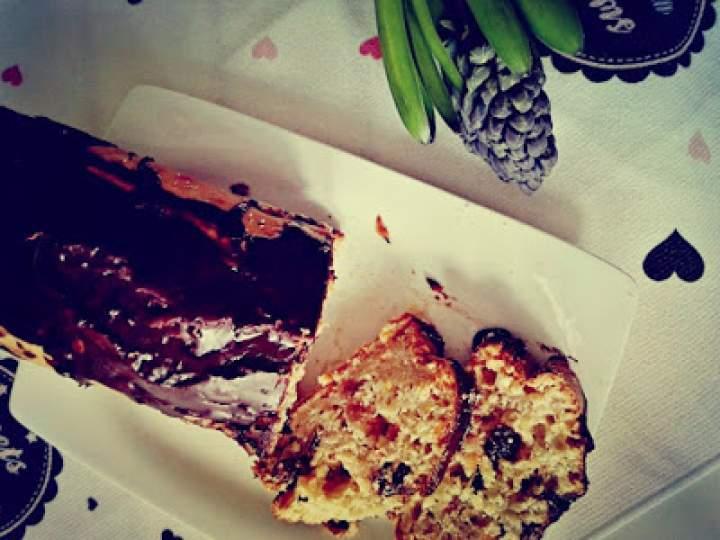 Proste ciasto z żurawiną i czekoladą
