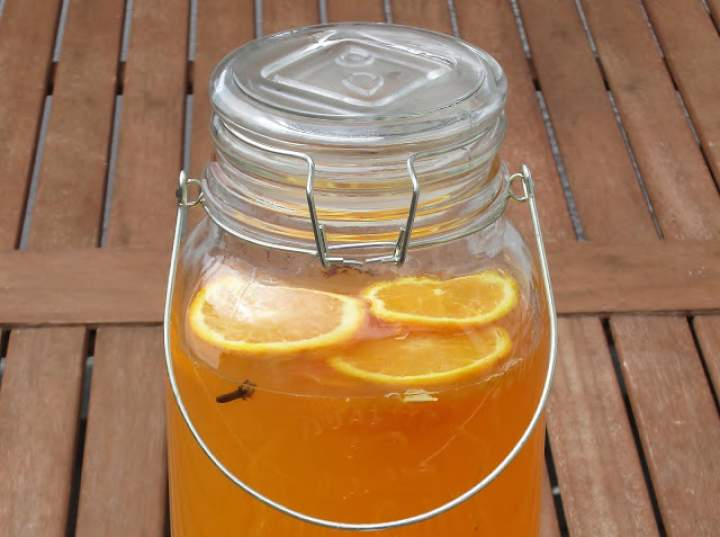 Napój pomarańczowy.