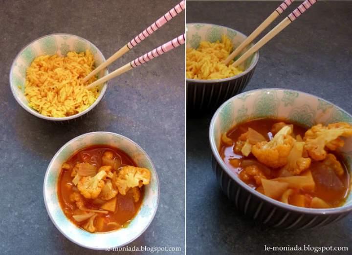 Curry z kalafiorem z cynamonowym ryżem