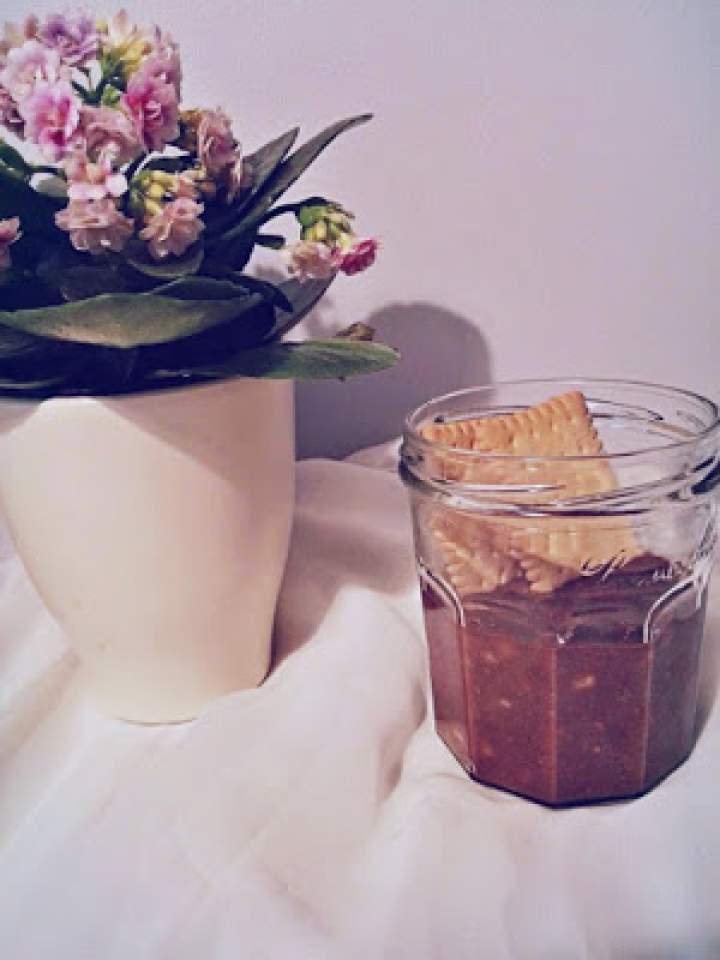 Ciasteczkowy krem z banana i czekolady