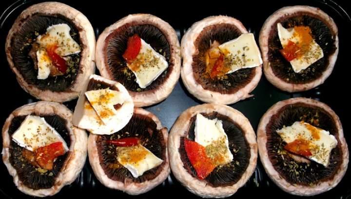 Wegetariański grill cz. 2 – pieczarki grillowane