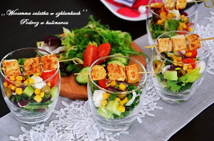 ,,Wiosenna sałatka w szklankach''