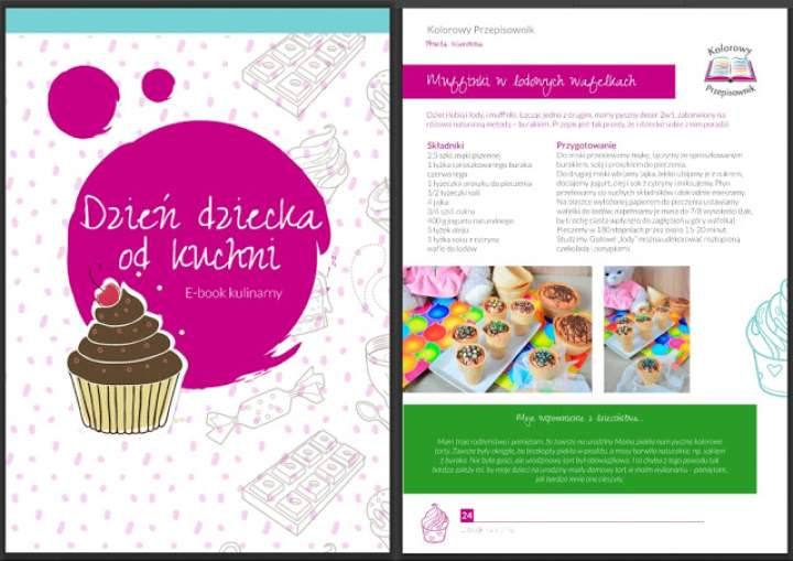 Muffinki w lodowych wafelkach i e-book z okazji Dnia Dziecka