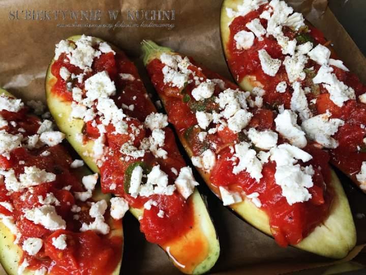Bakłażany zapiekane z pomidorami