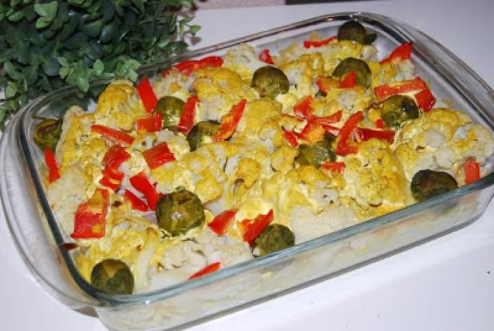 Kalafior zapiekany w sosie curry