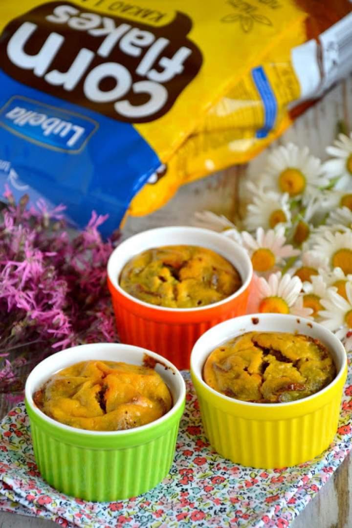Śniadaniowe serniczki z płatkami Lubella corn flakes kakao i miód