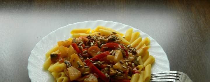 Penne z warzywami w sosie orientalnym (bezglutenowe i wegańskie) #4