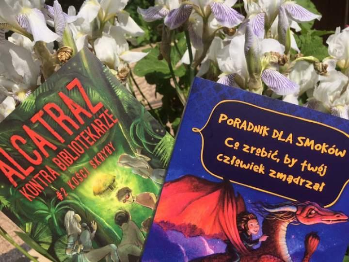 """""""Poradnik dla smoków. Co zrobić, by twój człowiek zmądrzał"""" oraz """"Alcatraz kontra Bibliotekarze- Kości skryby"""".  – propozycja książek dla młodzieży"""