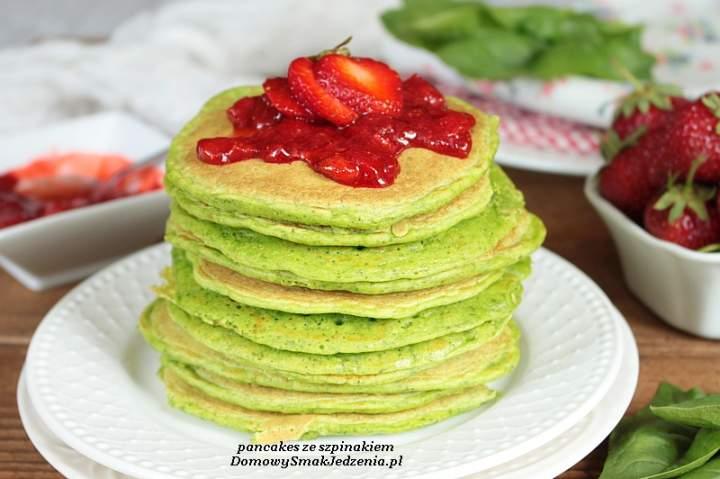 pancakes ze szpinakiem
