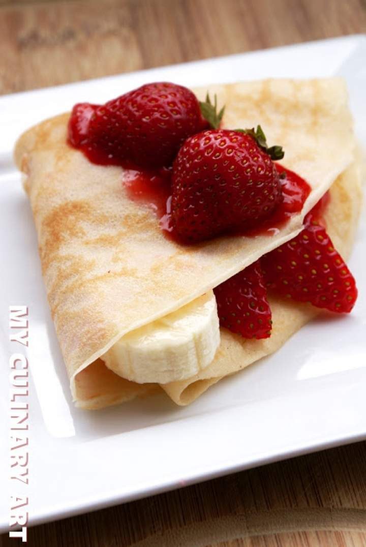 Naleśniki z musem z truskawek (bez glutenu, laktozy i cukru)