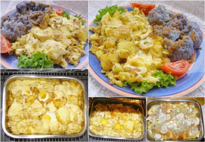 pyszna zapiekanka ziemniaczana z  jajkami…