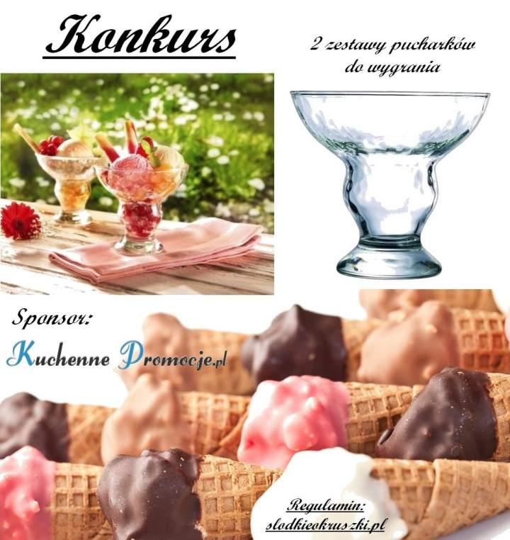 Konkurs z Kuchenne Promocje. Wygraj zestaw pucharków do lodów.