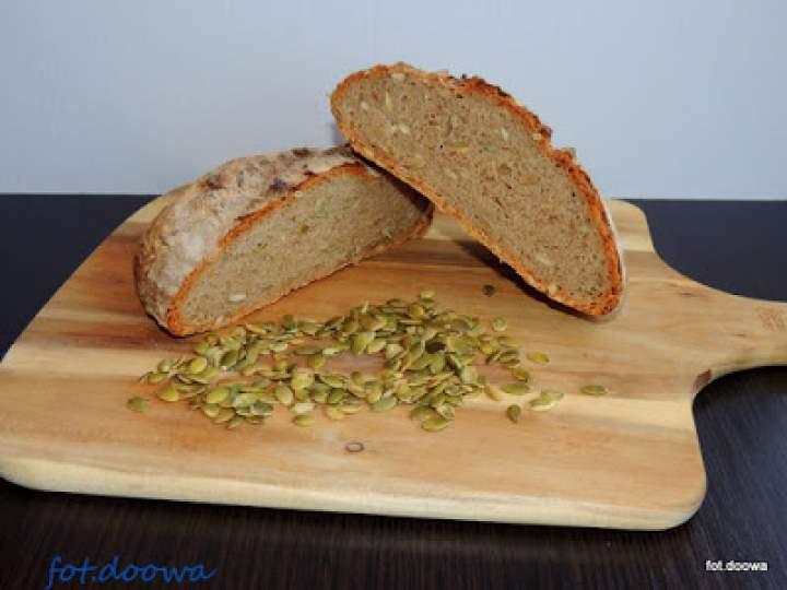 Chleb pszenno – gryczany z pestkami dyni
