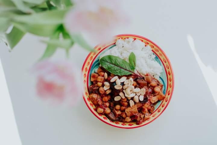 Azjatycka potrawka z bakłażana