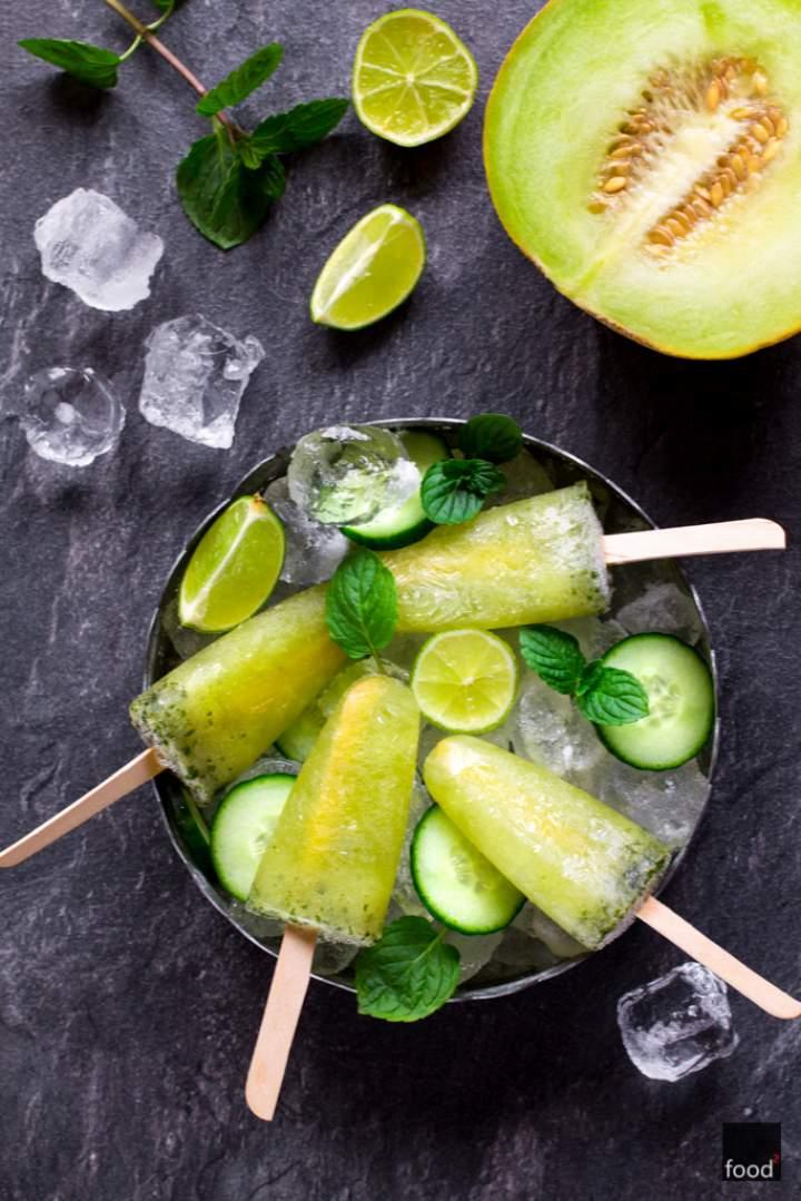 Lizaki lodowe z ogórka i melona