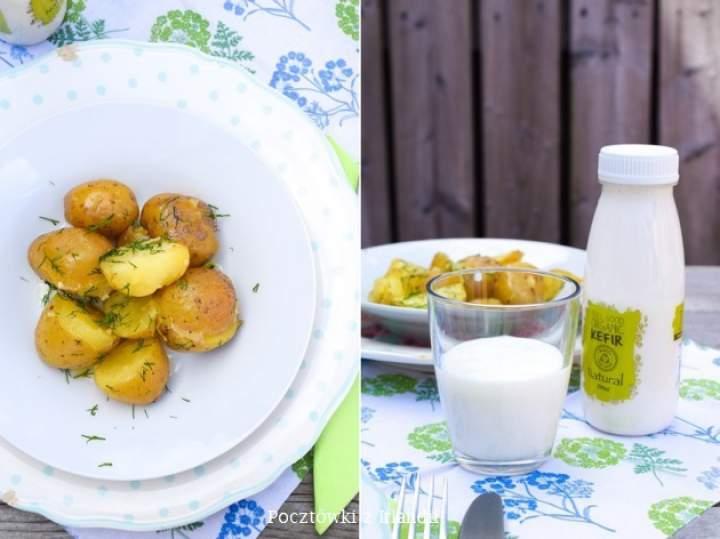 Młode ziemniaczki z masłem i koperkiem, czyli lato zawitało do Irlandii