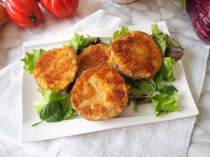 Ziołowo-serowe kotleciki z bakłażana (Cotolette di melanzane con erbe e parmigiano)