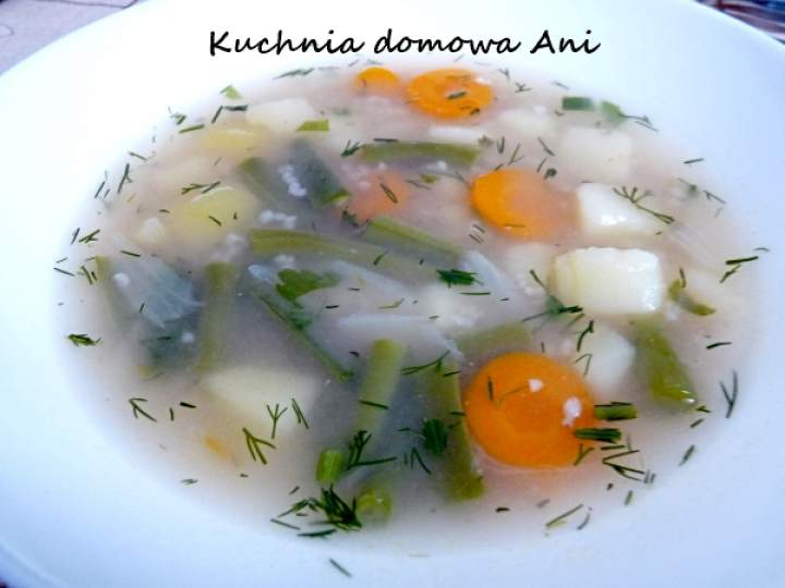 Krupnik z fasolką szparagową / Zupa warzywna z kaszą