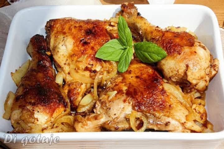 Kurczak smażony z cebulą