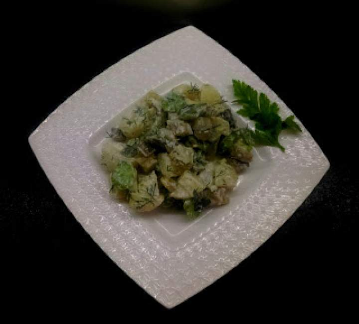 Ziemniaczana sałatka, wersja milion pierwsza, z bobem