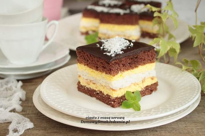 ciasto z masą serową