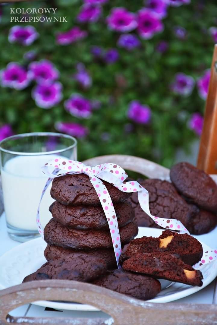 Ciastka brownie z białą czekoladą