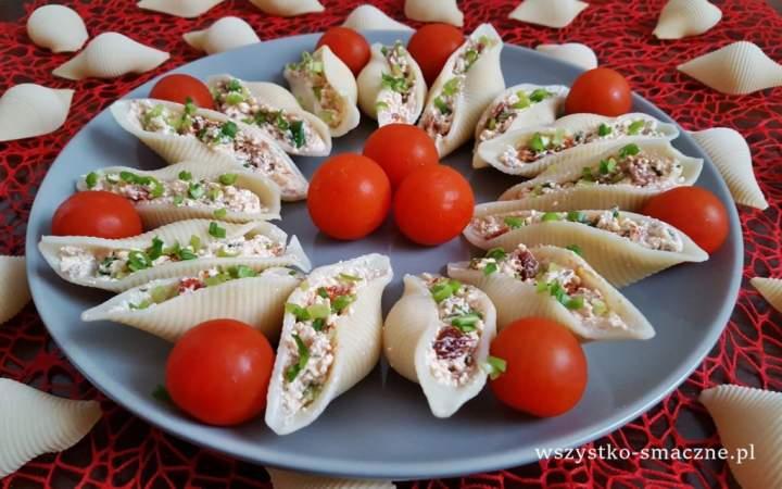 Makaronowe muszle z białym serem