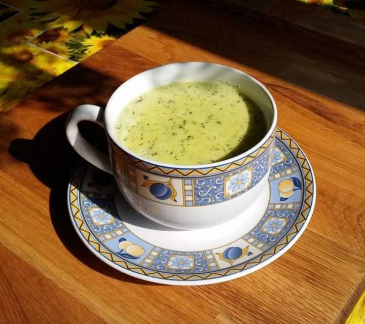 Zupa krem ze świeżych ogórków