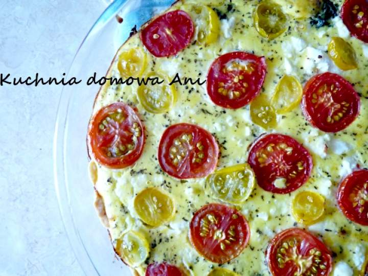 Tarta ze szpinakiem, fetą i pomidorami