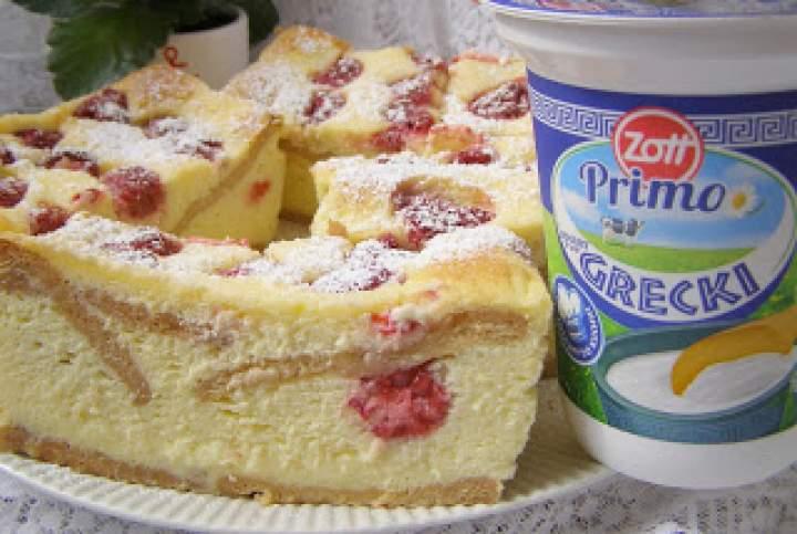 aksamitny malinowy sernik z jogurtów greckich…