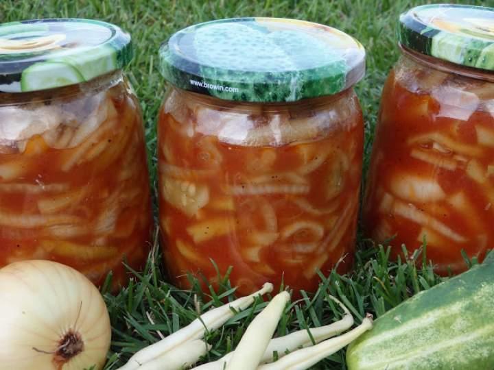 Sałatka z ogórków i fasolki szparagowej