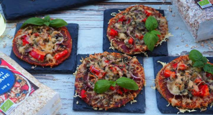 MINI PIZZERINKI FIT (bez drożdży)