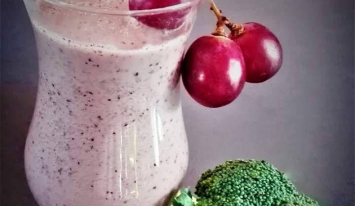 winogrona + borówki + brokuły + pestki dyni + oliwa z oliwek