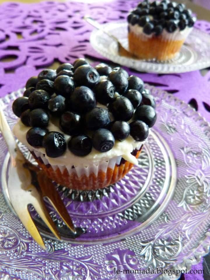 Muffiny z mascarpone i jagodami