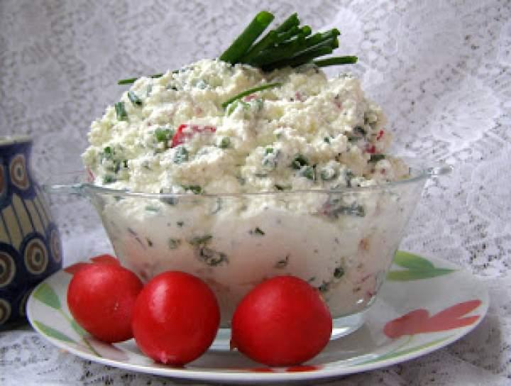 wiejski twarożek z jogurtem greckim….