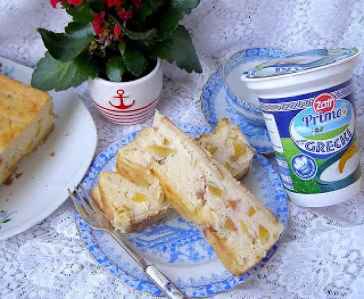 ziemniaki,twaróg,jogurt grecki=pyszny sernik z nektarynkami i miętą na herbatnikach…