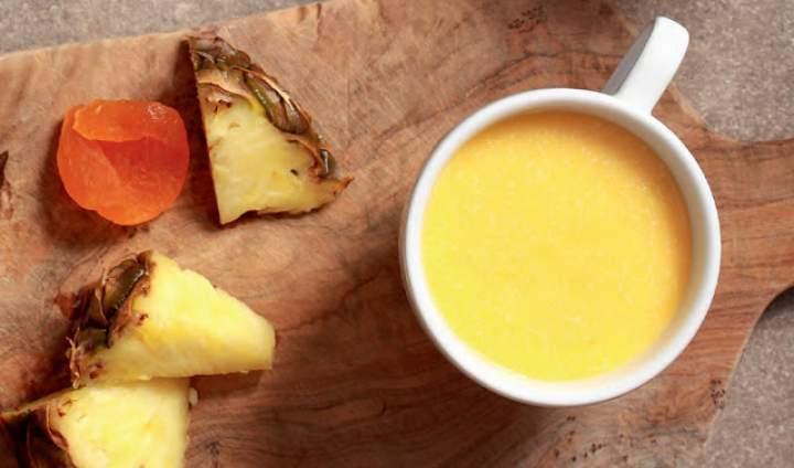 nektarynki + nerkowce + brazylijskie + ananas + zielona herbata