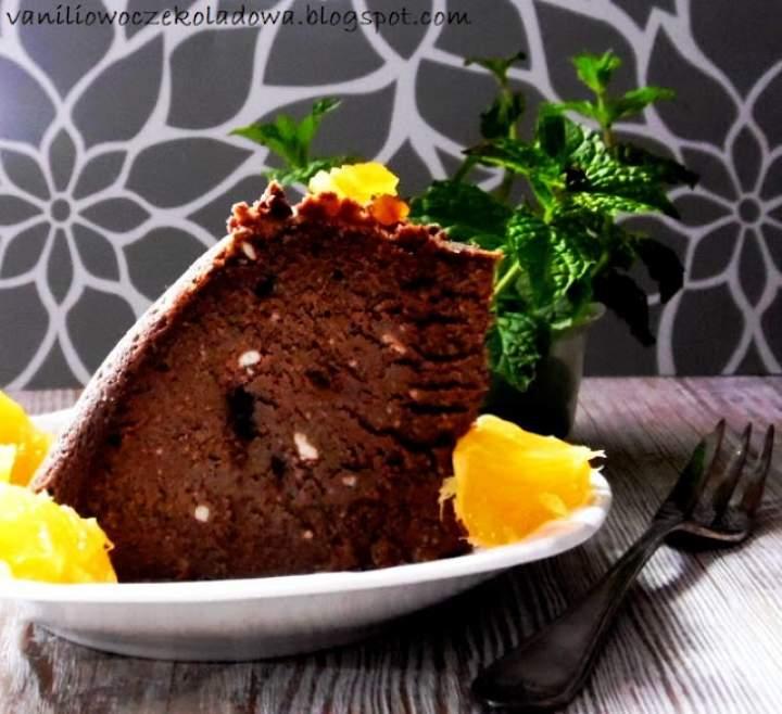 Sernik czekoladowy ricotta aromatyzowany pomarańczą