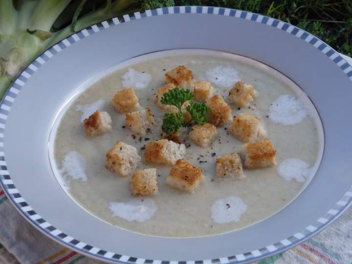Zupa krem z brokuła i kalafiora
