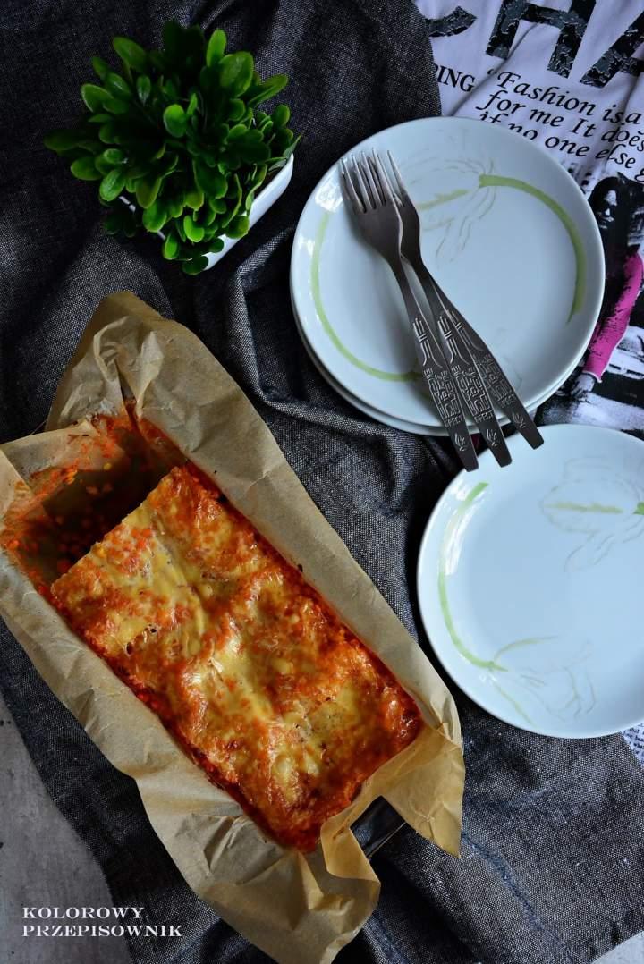 Lazania wegetariańska – z soczewicą