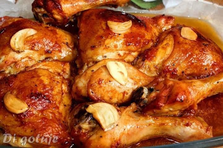 Kurczak w marynacie miodowo-ketchupowej z czosnkiem