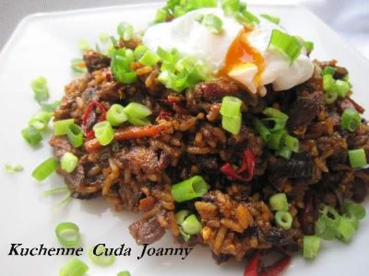 Koreański Ryż Smażony z Karkówką