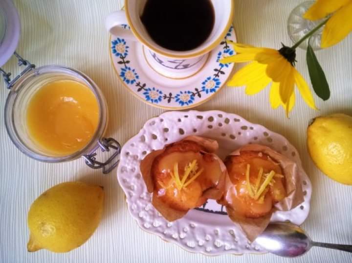 Muffinki z lemon curd-obłędnie cytrynowe