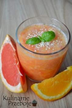 Koktajl spalający tłuszcz z pomarańczy i grejpfruta