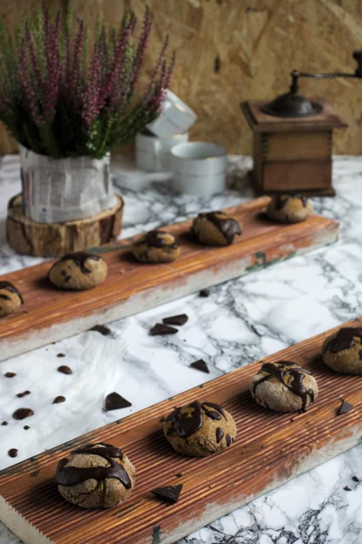 Ciasteczka dyniowe z czekoladą