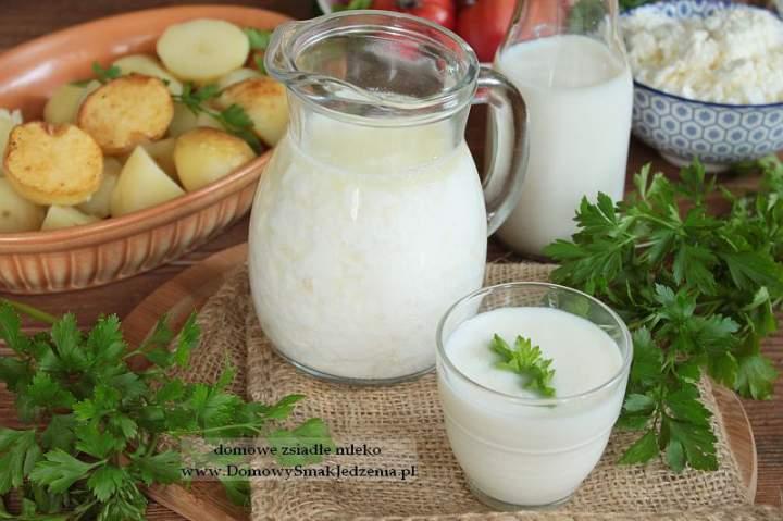domowe zsiadłe mleko + śmietana gratis :)
