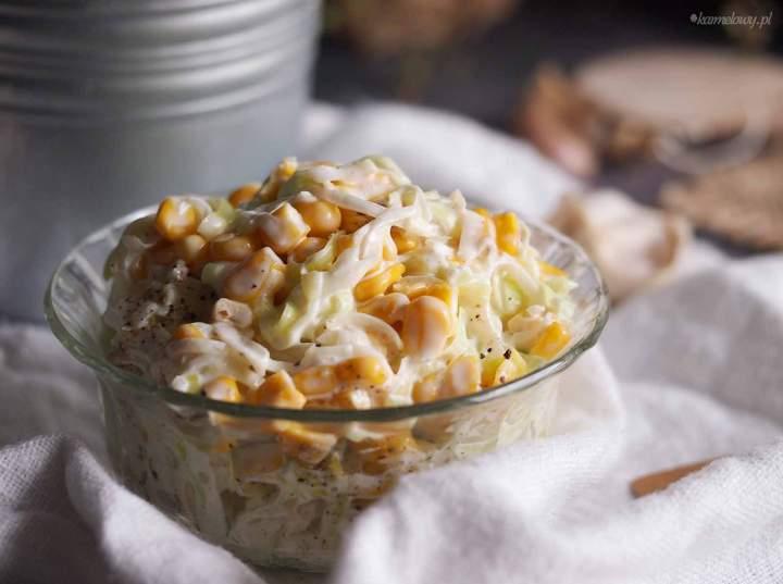 Surówka z pora z kukurydzą / Leek and corn salad