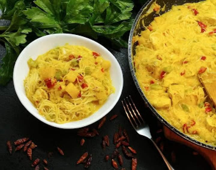 Dyniowo-kokosowe curry z kurczakiem