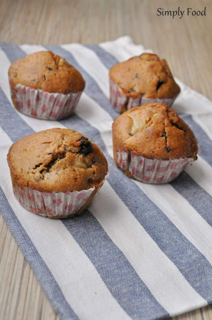 Muffinki z gruszką i czekoladą