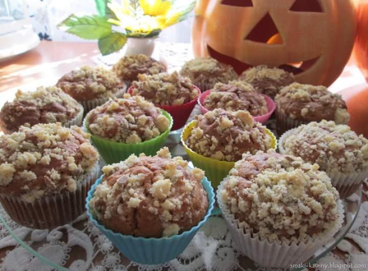 Szarlotkowe muffinki ze słonecznikową kruszonką-pyszne i wilgotne